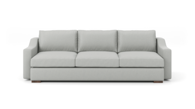 "Uncle Sal Sofa (100"" Wide, Velvet Fabric)"