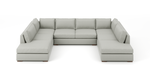 Uncle Sal U-Shaped Bumper Sectional
