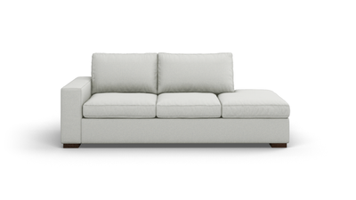 "Couch Potato Sofa With Bumper (85"" Wide, Standard Depth, Leather Fabric)"