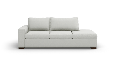"Couch Potato Sofa With Bumper (90"" Wide, Extra Depth, Leather Fabric)"