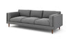 "Skinny Fat Sofa (85"" Wide, Extra Depth, Velvet Fabric, Fiber Package)"