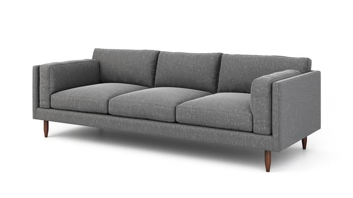 "Skinny Fat Sofa (100"" Wide, Extra Depth, Leather Fabric, Fiber Package)"