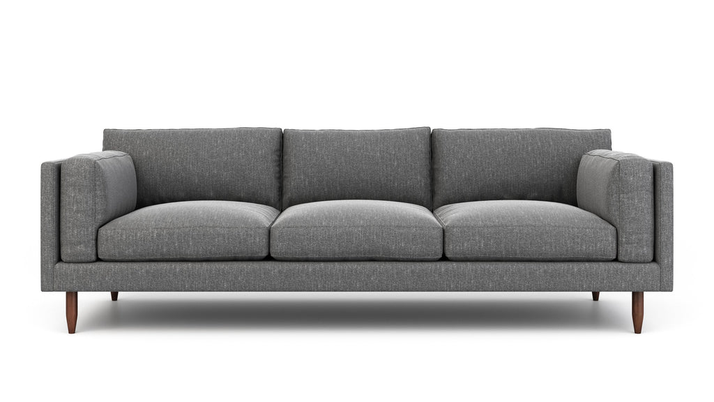 Front view of custom Skinny Fat Sofa