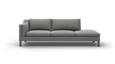 "Up-Town Sofa With Bumper (100"" Wide, Performance Fabric)"