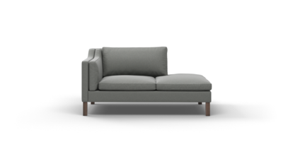 "Up-Town Sofa With Bumper (65"" Wide, Velvet Fabric)"
