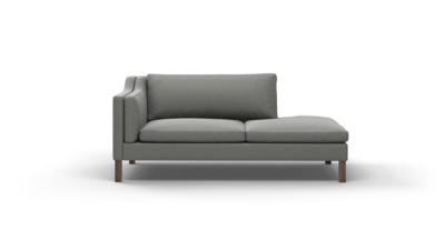 "Up-Town Sofa With Bumper (75"" Wide, Performance Fabric)"