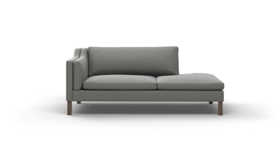 "Up-Town Sofa With Bumper (80"" Wide, Velvet Fabric)"