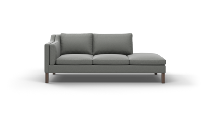 "Up-Town Sofa With Bumper (85"" Wide, Velvet Fabric)"