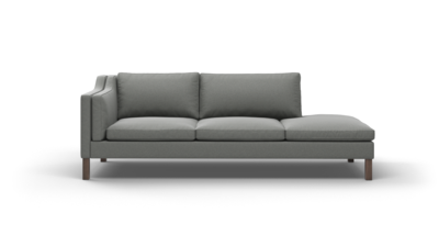 "Up-Town Sofa With Bumper (95"" Wide, Leather Fabric)"