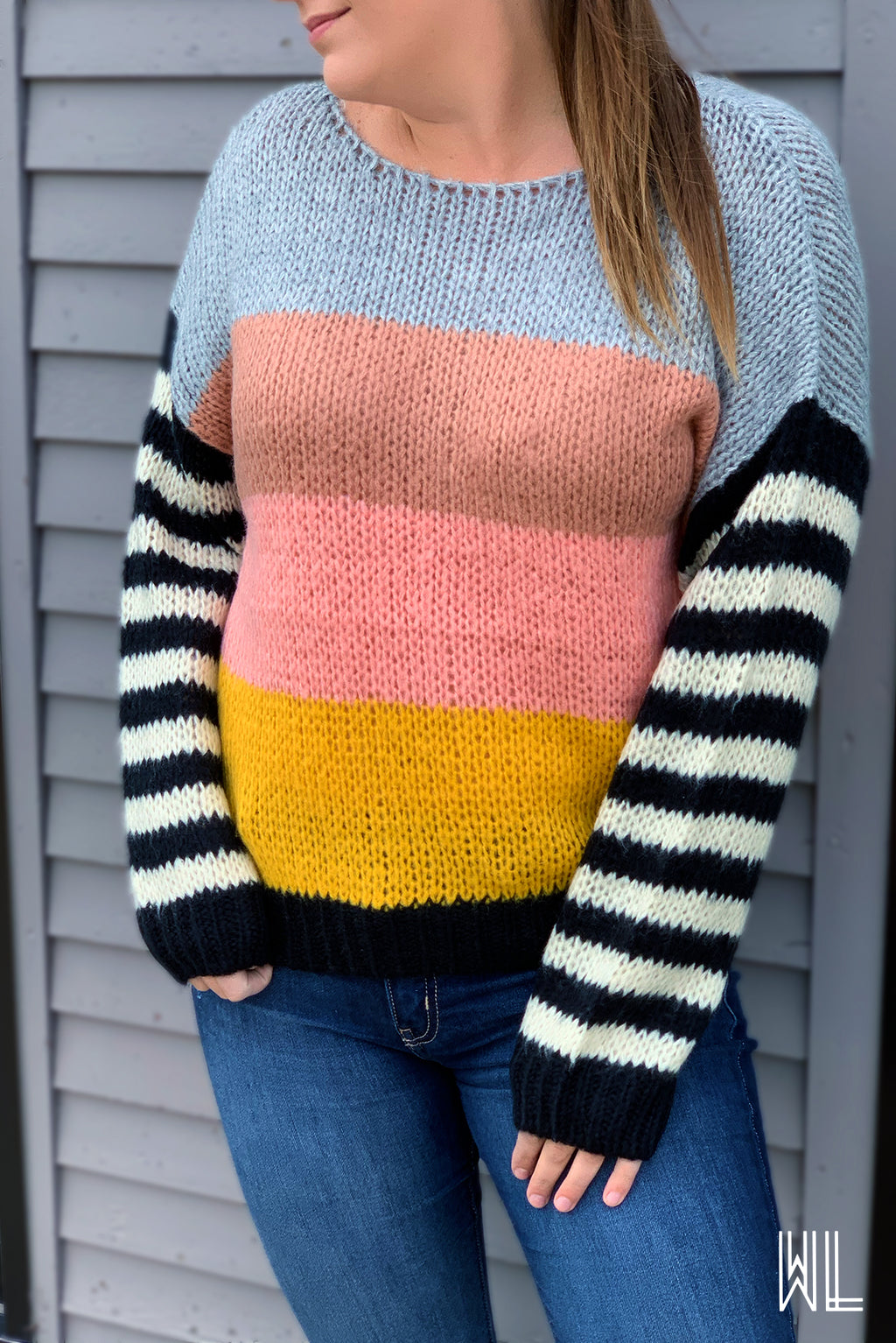 Blush Multicolor Stripe Sweater