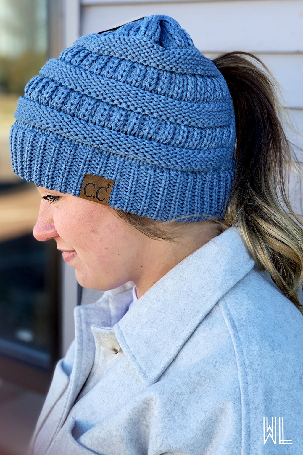 C.C. Criss Cross Pony Beanie
