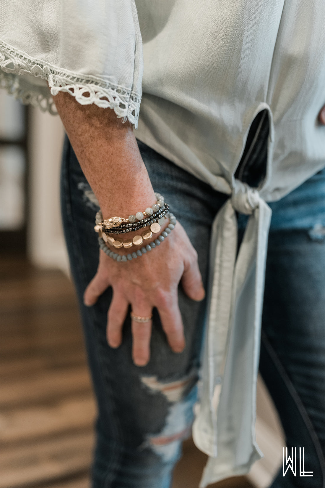 Layered Beaded Bracelets