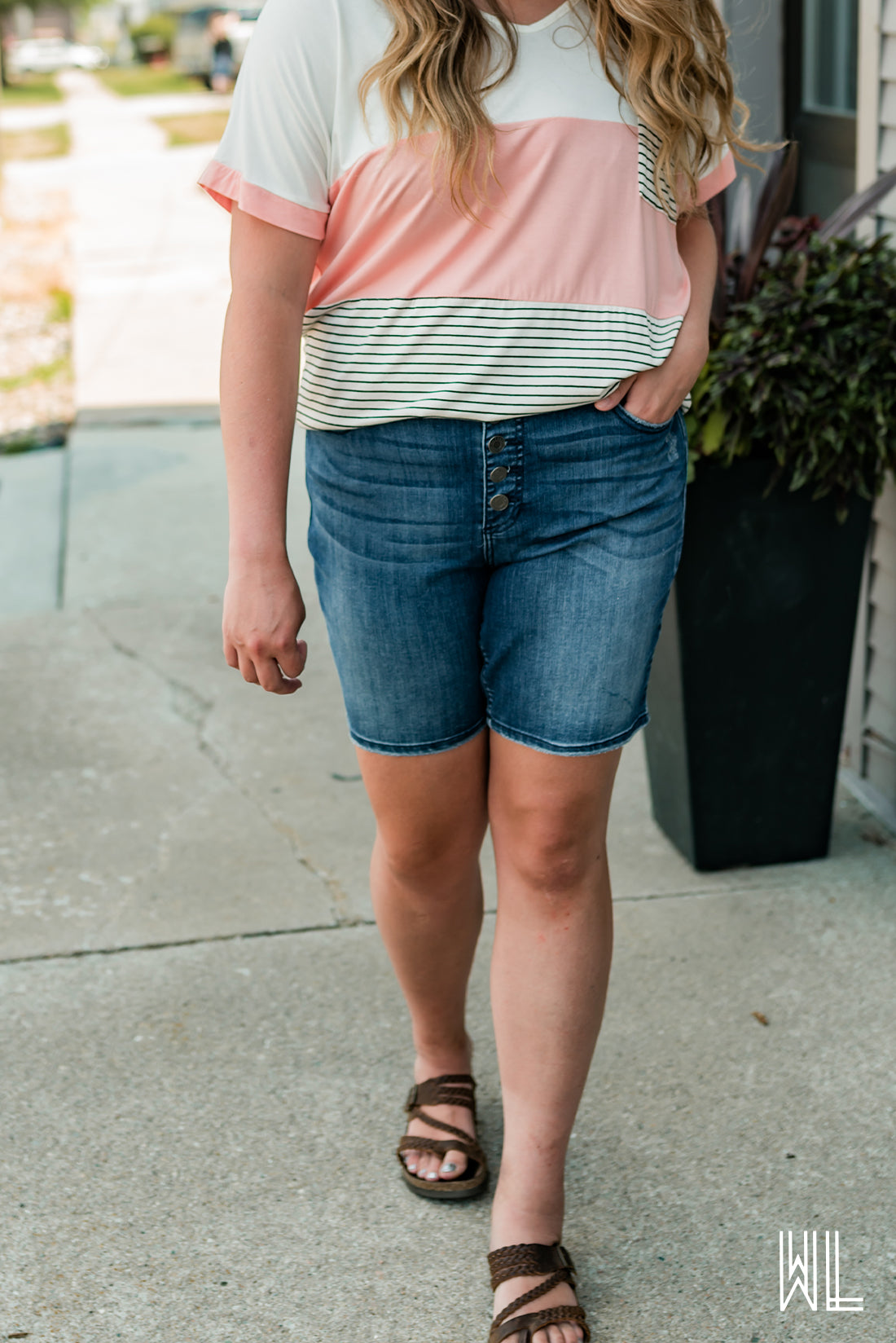 High Rise Bermuda Shorts