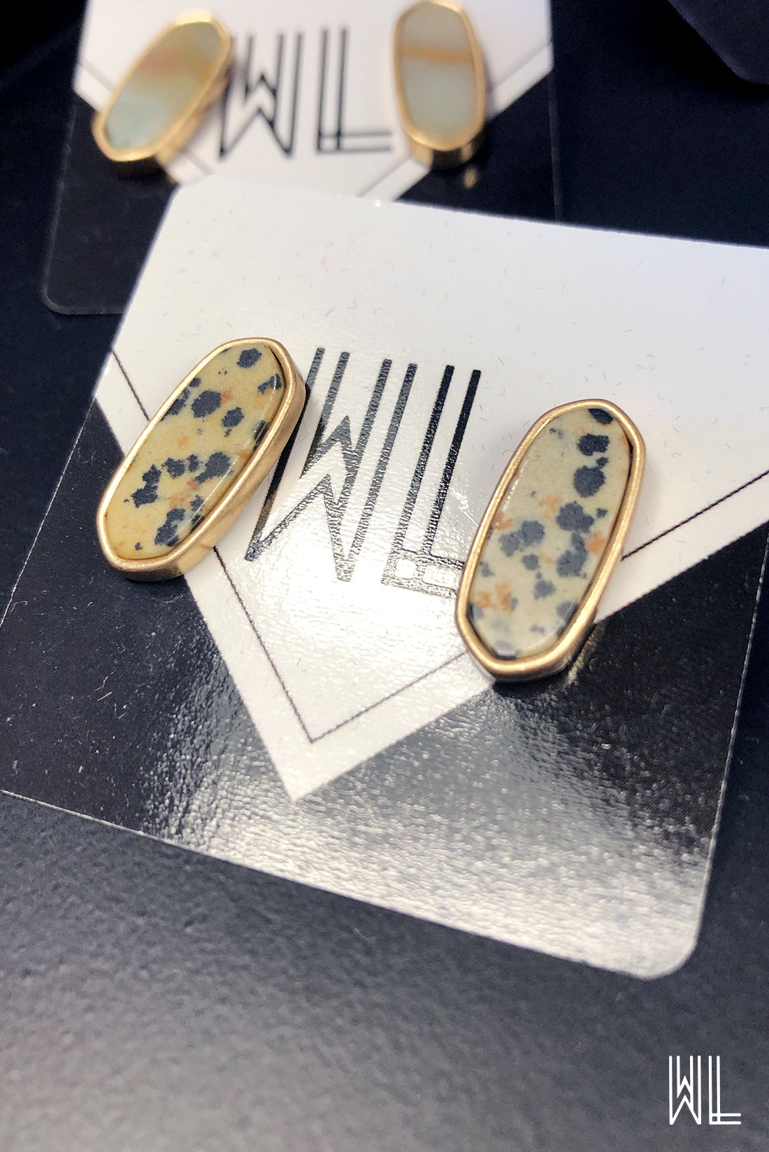 Speckled Stud Earrings
