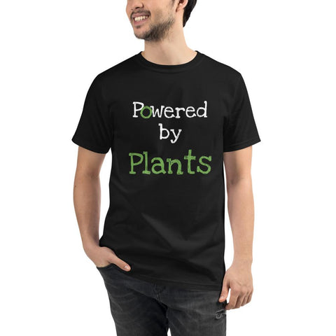 Tshirt vegan powerred plants avec mannequin