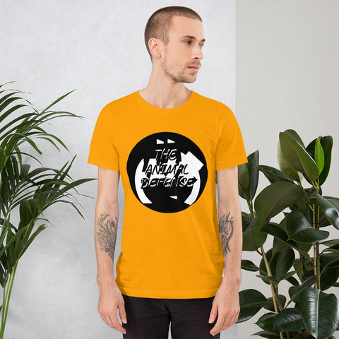 t shirt vegan TAD geo orange