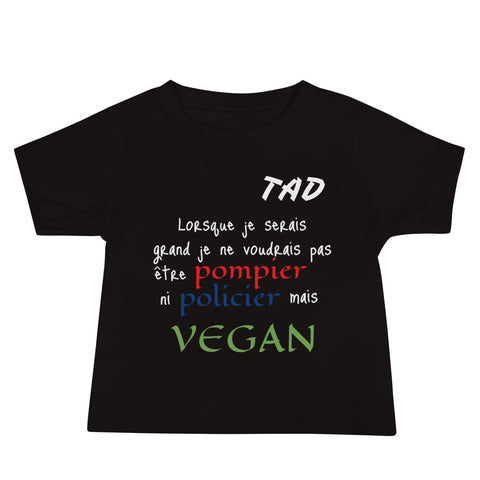t shirt vegan tad enfant