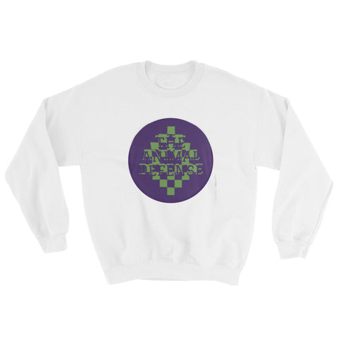 sweatshirt vegan TAD color pixel blanc