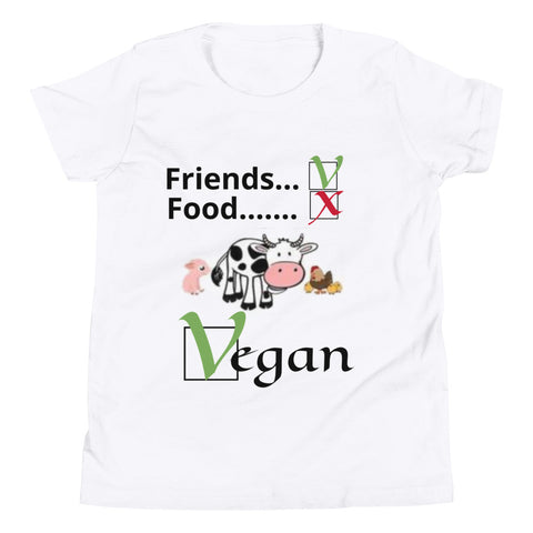 Tee shirt vegan cartoon enfant qcm