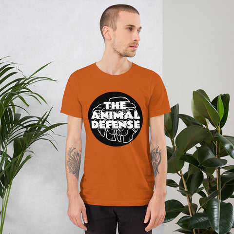 t shirt vegan TAD leaf orange