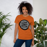 t shirt vegan TAD arrow orange