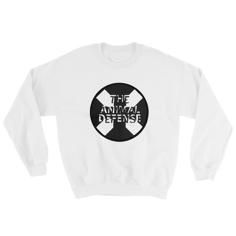 sweat-shirt vegan TAD cruz blanc
