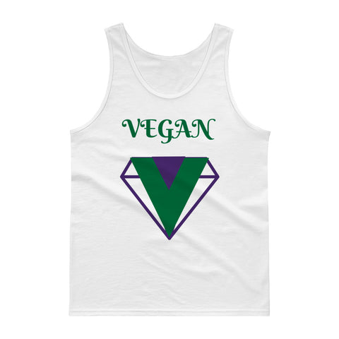 t shirt vegan diamond débardeur blanc