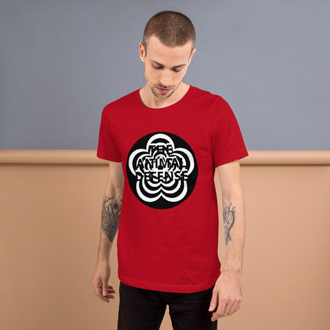 t shirt vegan TAD flower rouge