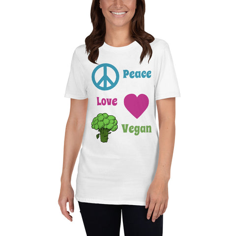 peace and love tshirt vegan noir blanc