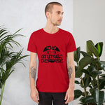 tshirt vegan TAD cat rouge