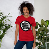t shirt vegan TAD arrow rouge