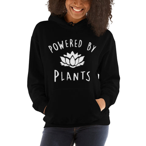 Sweat shirt vegan femme powered by plants noir