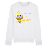 pull vegan blanc im not a nugget - collection sweatshirt