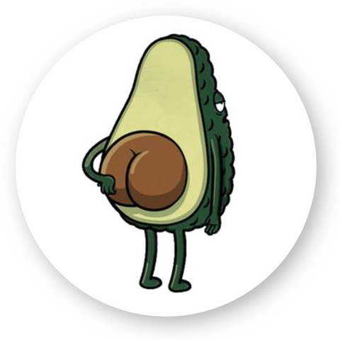 stickers vegan avocado rond