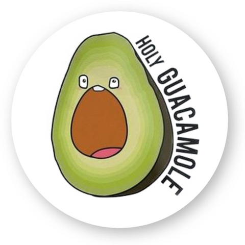 stickers vegan holy guacamole rond