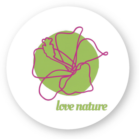 stickers vegan love nature rond