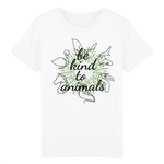 t shirt vegan enfant be kind to animals - collection t shirt