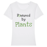 t shirt vegan powered by plants femme blanc