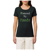 t shirt vegan powered by plants femme
