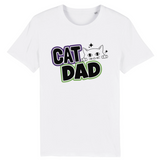 tshirt vegan cat dad balnc - tshirt contre l'exploitation animale