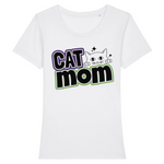 tshirt vegan cat mom blanc- tee shirt contre l'exploitation animale