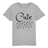 Un tshirt eco gris pour enfant vegan - tshirt vegan gris collection