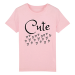 Un tshirt eco rose pour enfant vegan - tshirt vegan rose collection