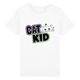 tshirt vegan cat kid blanc - collection tshirt enfant