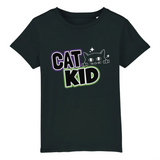 tshirt vegan cat kid noir - collection tshirt enfant