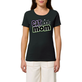 tshirt vegan cat mom mannequin- tee shirt contre l'exploitation animale