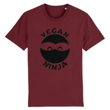 collection tshirt - tshirt vegan ninja bordeaux homme