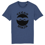 collection tshirt - tshirt vegan ninja indigo homme