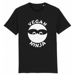 collection tshirt - tshirt vegan ninja noir homme
