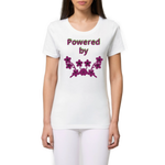 tshirt vegan - powered by plants reel femme mannequin